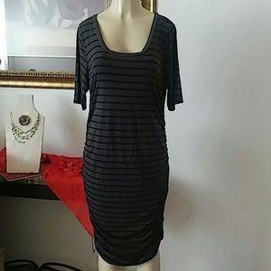 Motherhood short sleeve maternity dress